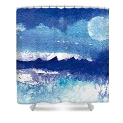 Blue Mohave Moon Shower Curtain
