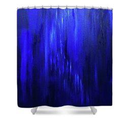 Blue Moment Meets Winter Evening Shower Curtain