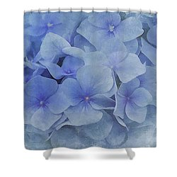 Blue Moments Shower Curtain by Elaine Manley