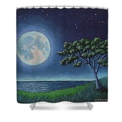 Blue Moon 01 Shower Curtain