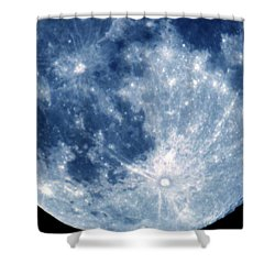 Blue Moon 7-31-15 Shower Curtain