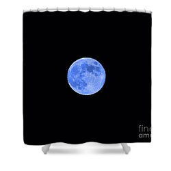 Blue Moon Shower Curtain by Al Powell Photography USA
