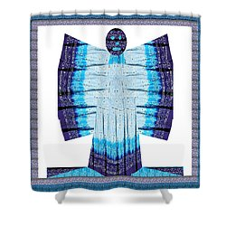 Blue Moon Butterfly Womens Fashion Couture From Jaipur India Cotton Printed Fabric With Embroidary W Shower Curtain