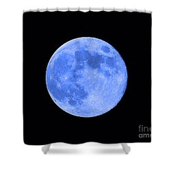 Blue Moon Close Up Shower Curtain by Al Powell Photography USA