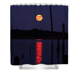 Blue Moon Shower Curtain by Raymond Salani III