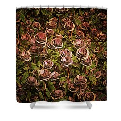 Blue Moon Roses Shower Curtain