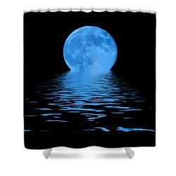 Blue Moon Shower Curtain by Shane Bechler