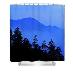 Shower Curtain featuring the photograph Blue Morning - Fs000064 by Daniel Dempster