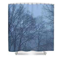 Shower Curtain featuring the photograph Blue Morning Mist by Don Koester