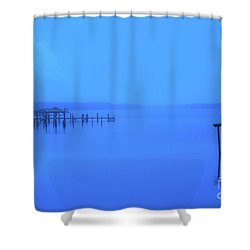 Blue Morning On The Bay Shower Curtain