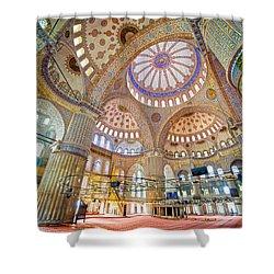Blue Mosque Interior Shower Curtain