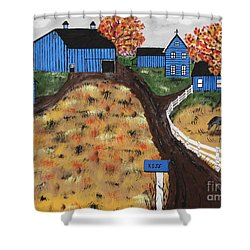 Blue Mountain Farm Shower Curtain