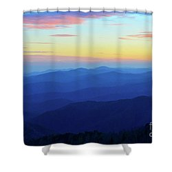 Blue Mountain Majesty Shower Curtain