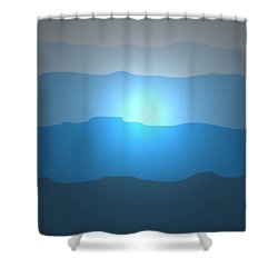 Blue Mountain Sun Shower Curtain