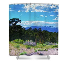Blue Mountain West Shower Curtain