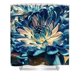Blue Mum Shower Curtain