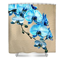 Blue Mystique Orchid Shower Curtain