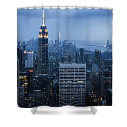 Blue New York Shower Curtain