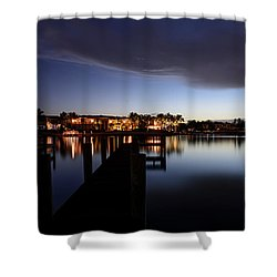 Shower Curtain featuring the photograph Blue Night by Laura Fasulo