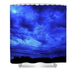 Blue Night Shower Curtain by Mark Blauhoefer