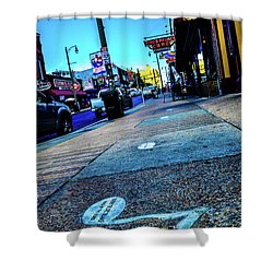 Blue Notes On Beale Shower Curtain