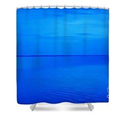 Blue Ocean Twilight Shower Curtain