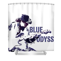 Blue Odyssey Shower Curtain