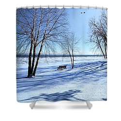 Shower Curtain featuring the photograph Blue On Blue by Phil Koch