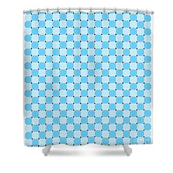 Blue Optical Illusion Shower Curtain