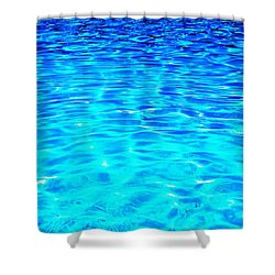 Shower Curtain featuring the photograph Blue Or Green by Ramona Matei