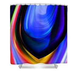 Blue Orb Shower Curtain by Elaine Hunter