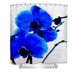 Blue Orchid  Shower Curtain by Anthony Fishburne