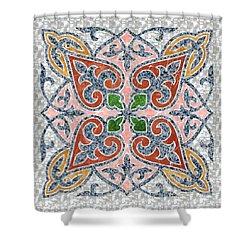 Blue Oriental Tile 03 Shower Curtain