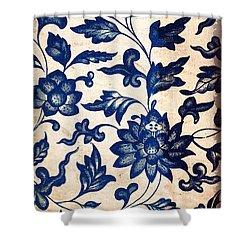 Blue Oriental Vintage Tile 06 Shower Curtain