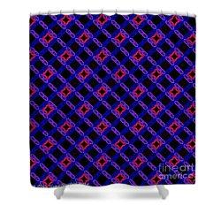 Blue Overlay Shower Curtain