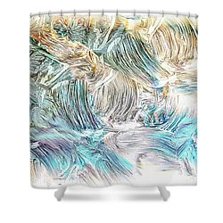 Shower Curtain featuring the photograph Blue Palette by Athala Carole Bruckner