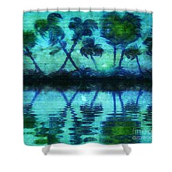 Blue Paradise Shower Curtain by Holly Martinson