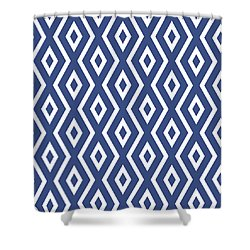 Blue Pattern Shower Curtain