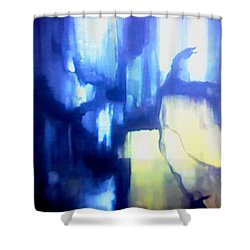 Blue Patterns Shower Curtain