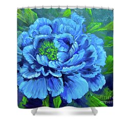 Blue Peony Jenny Lee Discount Shower Curtain