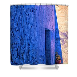 Blue Peru Shower Curtain