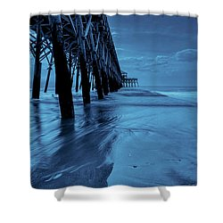 Blue Pier Shower Curtain