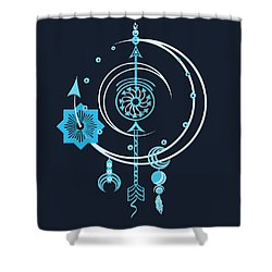 Blue Point Shower Curtain by Deborah Smith