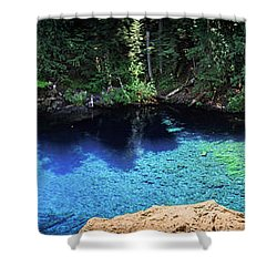 Shower Curtain featuring the photograph Blue Pool by Cat Connor