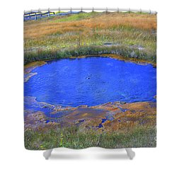 Blue Pool Shower Curtain