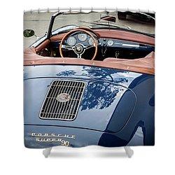 Blue Porche 356 Shower Curtain