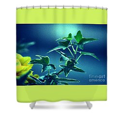 Shower Curtain featuring the photograph Blue Power  by Susanne Van Hulst