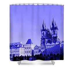 Shower Curtain featuring the photograph Blue Praha by Michelle Dallocchio