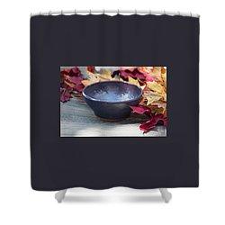 Blue Purple Bowl  Shower Curtain