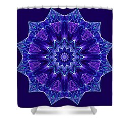 Blue And Purple Mandala Fractal Shower Curtain